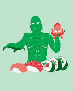 """Sushi from the Black Lagoon"" by Ashley Hay.  yum, sushi."