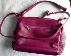 Vintage Purple/Pink Leather Satchel Handbag, - On Sale Now, Beautiful Leather, Beautiful Purple bag Leather Satchel Handbags, Beautiful Handbags, Pink Leather, Purple, Vintage, Cute Handbags, Nice Purses, Viola