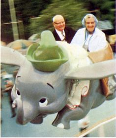 Date on Dumbo at Disneyland.