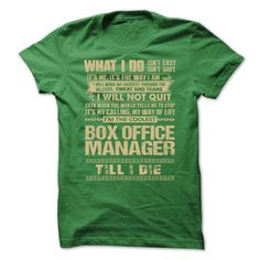 Awesome Shirt For Box Office Manager T-Shirts, Hoodies. BUY IT NOW ==►…