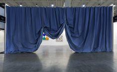 Ulla von Brandenburg Curtain, Blue, 2015 Pilar Corrias Gallery