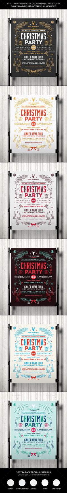 Christmas Party Flyer Template   Flyer Template Party Flyer And