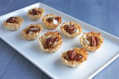 brie, fig & pecan tartlets (I just love brie with fig jam ~sh)