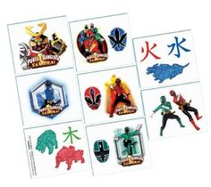 Power Rangers Samurai Tattoos Party Accessory: Amazon.co.uk: Toys & Games