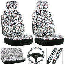 Leopard colored spots car seat cover set to change the look of your car.