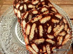 glyko mosaiko me biskota pti ber Greek Desserts, Greek Recipes, Healthy Snaks, My Favorite Food, Favorite Recipes, Chocolate Pastry, Time To Eat, Cooking Time, Dessert Recipes