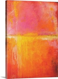 6f933d5f00c Erin Ashley Premium Thick-Wrap Canvas Wall Art Print entitled Spicy Love  Child. Yellow ArtOrange Wall ArtModern ArtContemporary Abstract ...