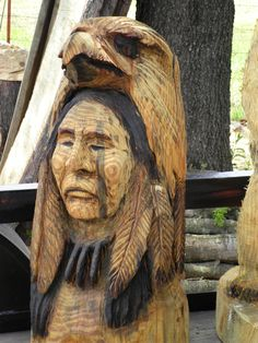 Native Indian wood carving