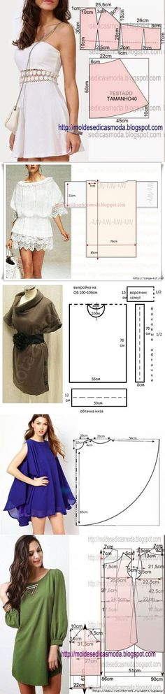 Shirt and dress sewing patterns Diy Clothing, Sewing Clothes, Clothing Patterns, Dress Patterns, Sewing Patterns, Dress Sewing, Diy Vetement, Make Your Own Clothes, Diy Fashion