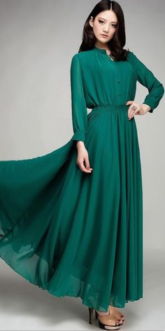 full length sleeve maxi dress | Mode-sty tznius muslim islamic pentecostal mormon lds evangelical christian apostolic mission clothes hijab fashion modest