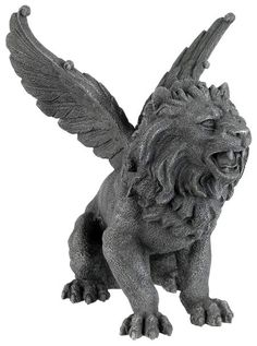 Winged Lion Gargoyle Statue Sculpture Figurine on Sale at AllSculptures.com