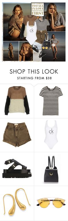 """Romee Strijd : )"" by thisiswhoireallyam7 ❤ liked on Polyvore featuring Molly Bracken, Proenza Schouler, American Apparel, Calvin Klein, MM6 Maison Margiela, WithChic, Christian Dior, beachday, Model and beach"