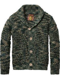 Shawl Collar Cardigan | Pullover | Boy's Clothing at Scotch & Soda