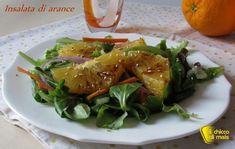 Insalata di arance al balsamico (ricetta light). Ricetta per un antipasto o contorno leggero, insalata di arance pelate a vivo con sesamo e aceto balsamico