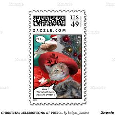 CHRISTMAS CELEBRATIONS OF PRINCESS TATUS CAT STAMPS