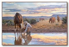 """Tim Cox - Western Art """"Reflections of A Passing Day"""""""