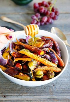 Roasted veggies. Really just to remind me to put sprouts in the roasted veggie mix. But not grapes.