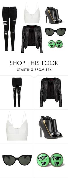"""Biker Bad Girl"" by samantha-isabella on Polyvore featuring Miss Selfridge, Boohoo, Narciso Rodriguez, Tom Ford, Oliver Peoples, rebel, biker and badgirl"