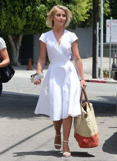 Julianne Hough Vision Summer Her White Wrap Dress Body