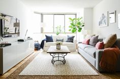 How An Area Rug Can Change Your Home In A Big Way #refinery29  http://www.refinery29.com/homepolish/71#slide-4  Have too many rugs? Layer them on top of each other! A sisal rug under something plush makes for a comfortable, beach-house vibe.Related: A Dre...