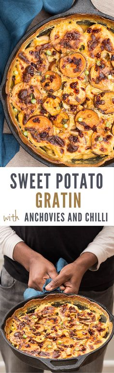 Anchovy, Chilli and Sweet Potato Gratin - Recipes From A Pantry