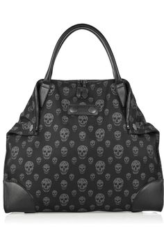 Alexander McQueen skull tote  - *Every Creepy Fashionista needs a skull bag for her Halloween season!