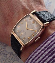 men s 1933 oversized e l elgin wrist watch strickland vintage wonderful 1940s elgin art deco style gold filled mens vintage american watch