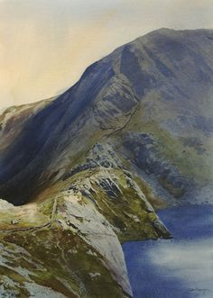 Y Llethr a Llyn Hywel, an original watercolour painting by Rob Piercy