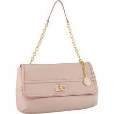 Koret Handbags Leather Half Flap with Enamel Turnlock