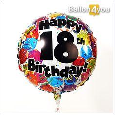 Geschenk zum 18 - Alles Gute zum 18 Geburtstag bunt