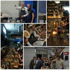 Mooi Italiaans 3 gangen diner gekookt met de dames en heren van Businesslease.nl