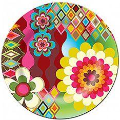 French Bull Mosaic Dinner Plate