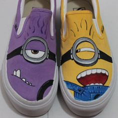 minion vans shoes Despicable Me Unicorn Custom Painted Shoes van