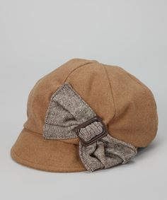 Take a look at this San Diego Hat Company Brown Bow Wool-Blend Newsboy Cap on zulily today!