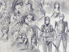 Fenris and Hawke - sketches by Smilika.deviantart.com on @deviantART