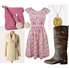 love girly dresses with a boot