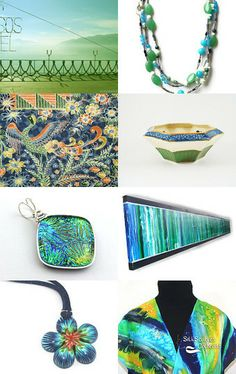 Blue Skies and Green Meadows! by Bev Martin on Etsy--Pinned with TreasuryPin.com