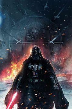 "Vader Down 1 - by Aleksi Briclot ""Variant Cover for Vader Down 1 (Marvel Comics)"""