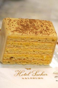 Delicious Viennese cake from Cafe Sacher in Vienna, Austria.
