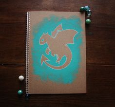Hand Illustrated Notebook, Blank Journal or Diary - dragon mark