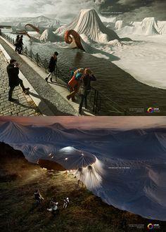 Christo & Jeanne-Claude inspired advertising.
