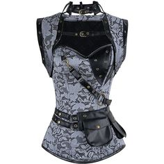 Camellias Womens Gothic Steampunk Tesla Steel Boned Underbust Waist... ($28) ❤ liked on Polyvore featuring outerwear, vests, training vest, gothic vest, steampunk vest, vest waistcoat and gothic waistcoat
