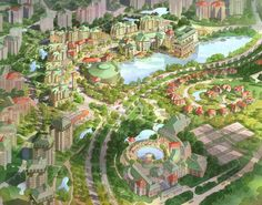 Masterplanned Community along the Pearl River near the city of Guangzhou, China. by Jerde Partnership (Dwight Bond)