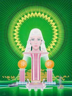 長崎「旅」博覧会ポスター原画 ( 1987-89(昭和62-平成元)年)