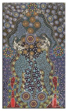 Dreamtime Sisters by Colleen Wallace Nungari- Aboriginal art of the dreamtime