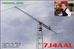 Japan  59.4mH 3.8/3.5MHz 5-Element Yagi (Full-Size) on 80m