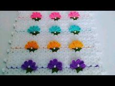 Karanfil bahçesi lif modeli - YouTube Baby Knitting Patterns, Crochet Patterns, Crochet Stitches, Knit Crochet, Crochet Videos, Crochet Flowers, Elsa, Gifts, Youtube Youtube