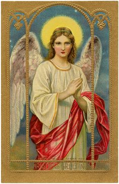 Vintage Holy Angel Image. Found on Graphics Fairy website.