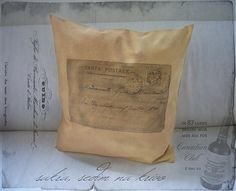 vYQt / Vankus Vintage - Posta Pre Teba II.  handmade pillow printed with the old posts