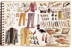 Adolf Konrad, packing list, December 16, 1963. Adolf Ferdinand Konrad papers, 1962–2002. Archives of American Art. Smithsonian Institution.